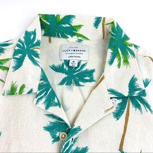 Men's Lucky Brand Palm Tree Button Down Shirt